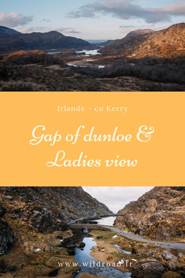 Gap of dunloe et Ladies view dans le conté de Kerry