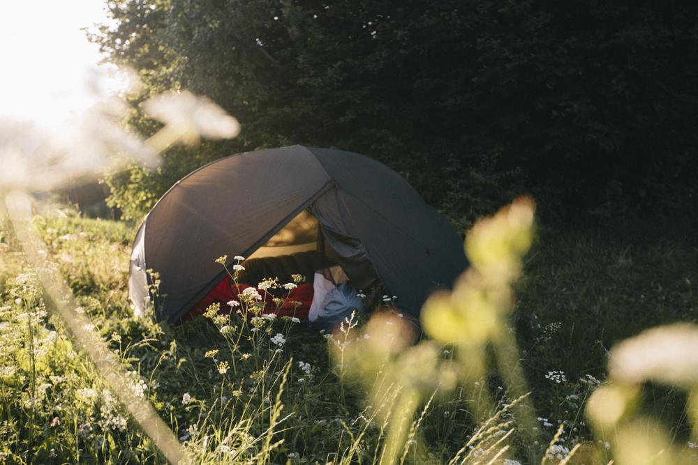 Réveil après un bivouac dans les Dolomites