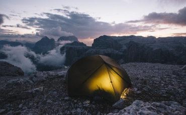 Bivouac passo pordoï Dolomites