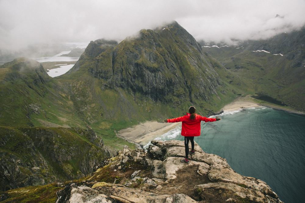 Ryten Lofoten randonnée