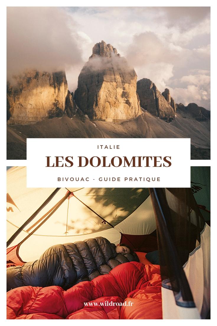 Guide pratique pour un bivouac réussit dans les Dolomites en Italie