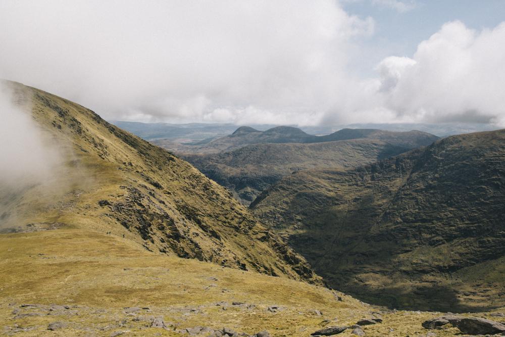 La vue sur le county de Kerry depuis le sommet