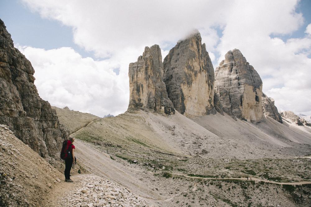 Roadtrip Dolomites sentier de randonnée Très cimes di Lavaredo