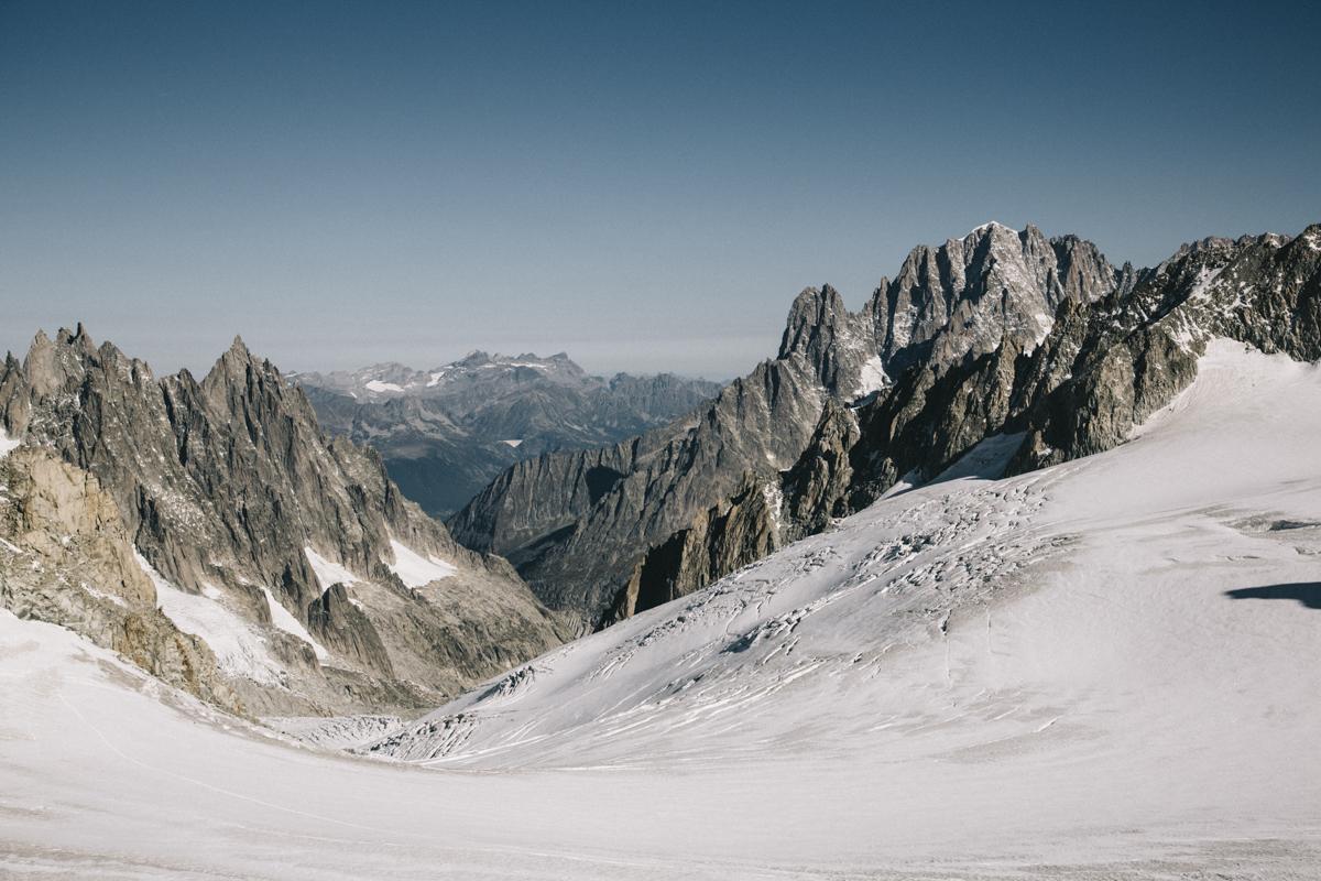 Massif du Mont-Blanc et mer de glace