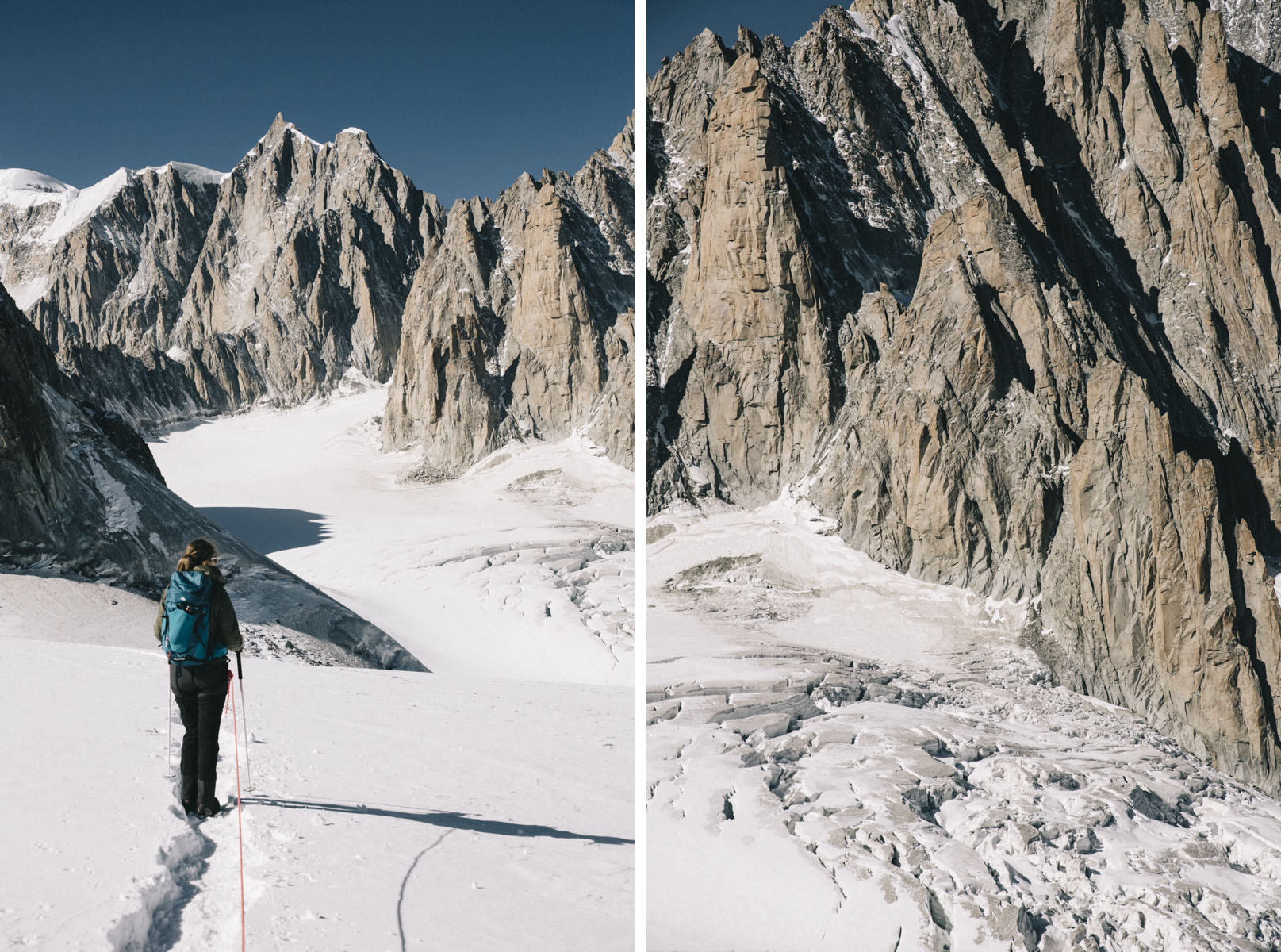 Glacier des Géants au Mont-blanc
