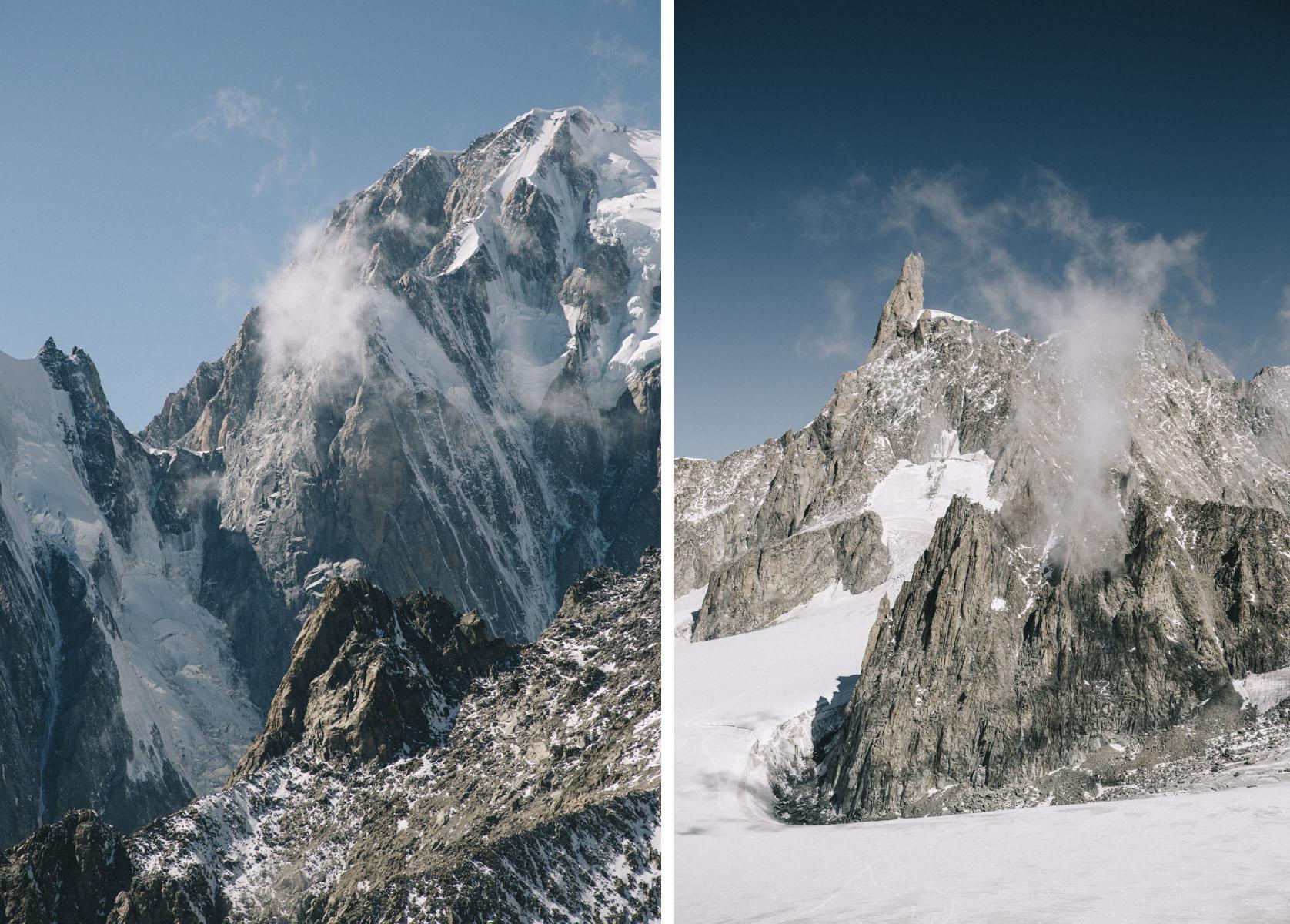 Dent du géant et Mont-blanc
