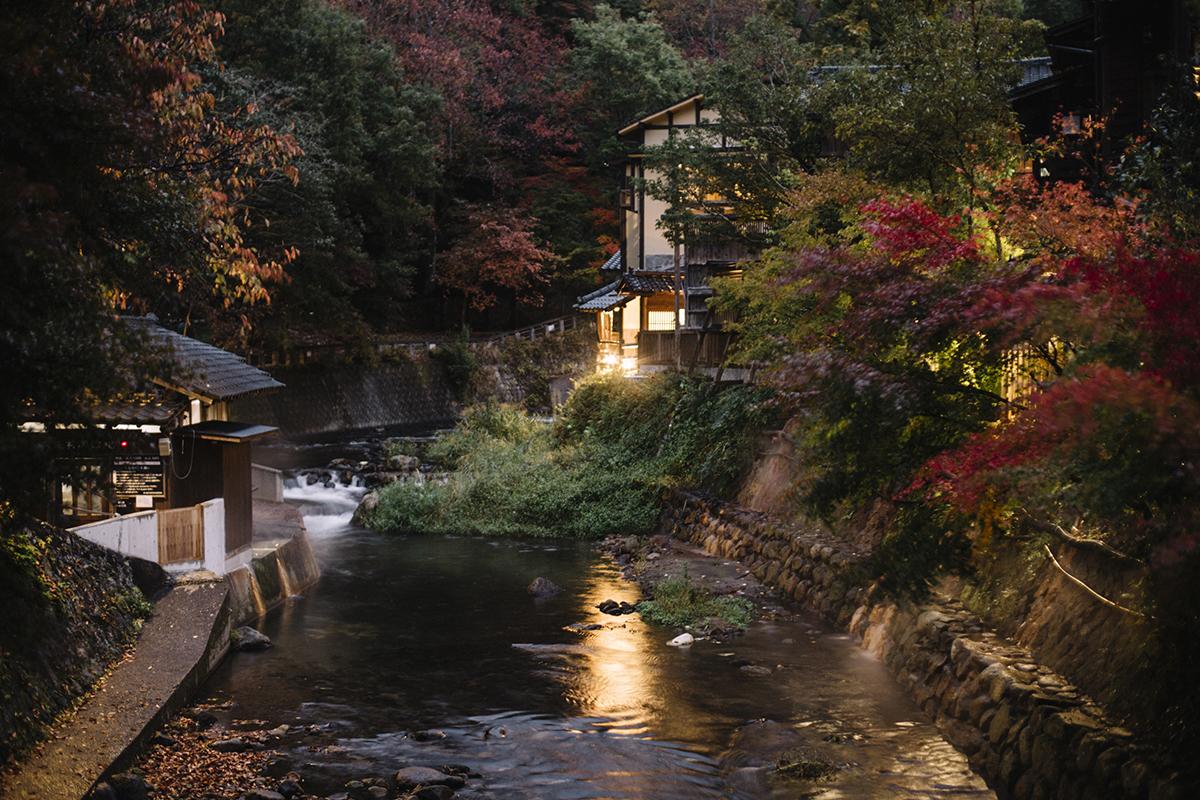 Kurokawa hotspring automne japon