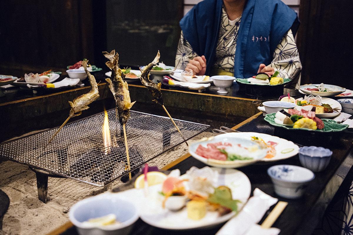 Wakaba ryokan dinner