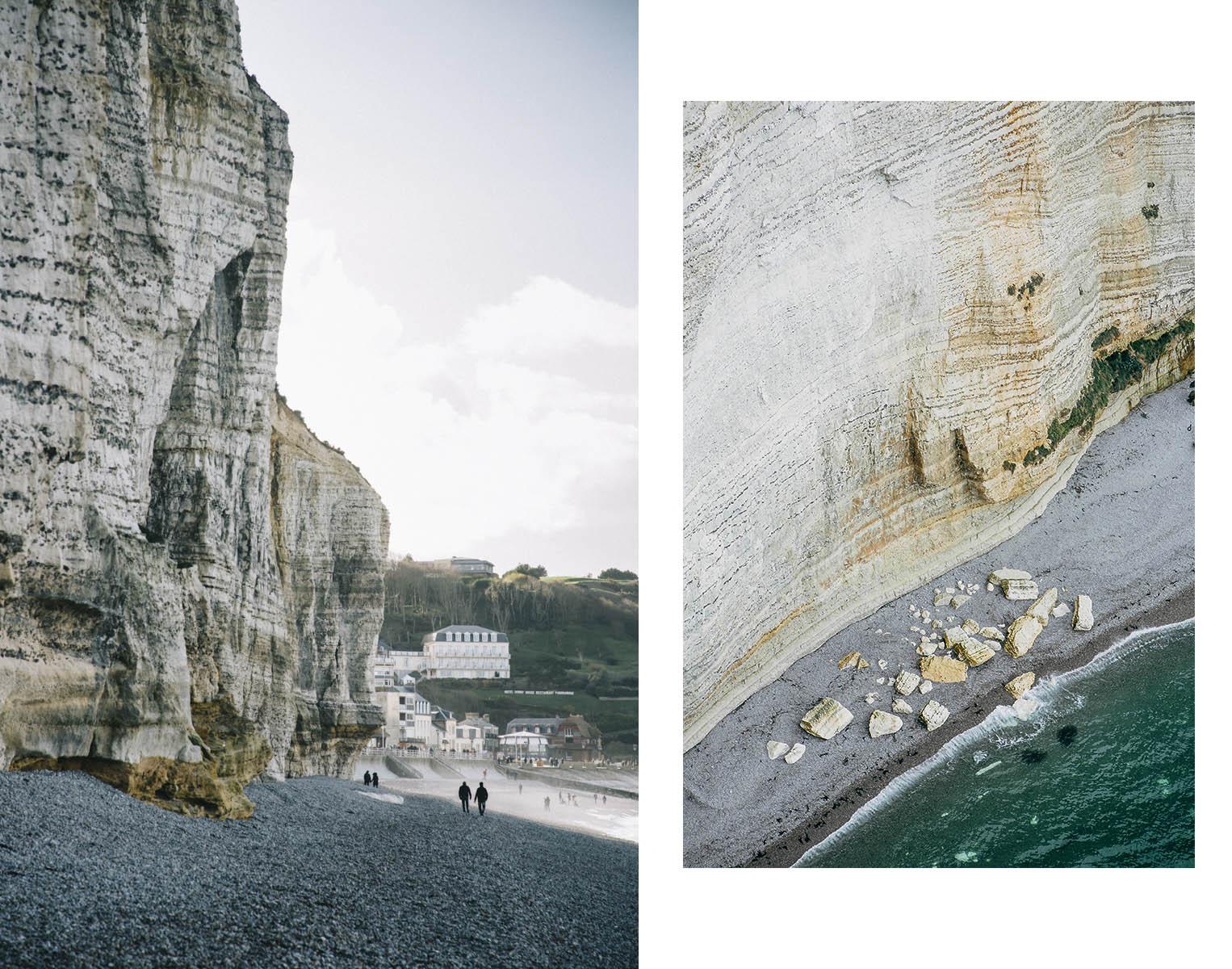 Errosion falaises de calcaire Etretat
