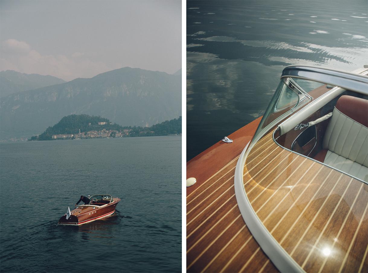 Lac de Côme en bateau Riva