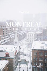 Montréal city guide endroits authentiques