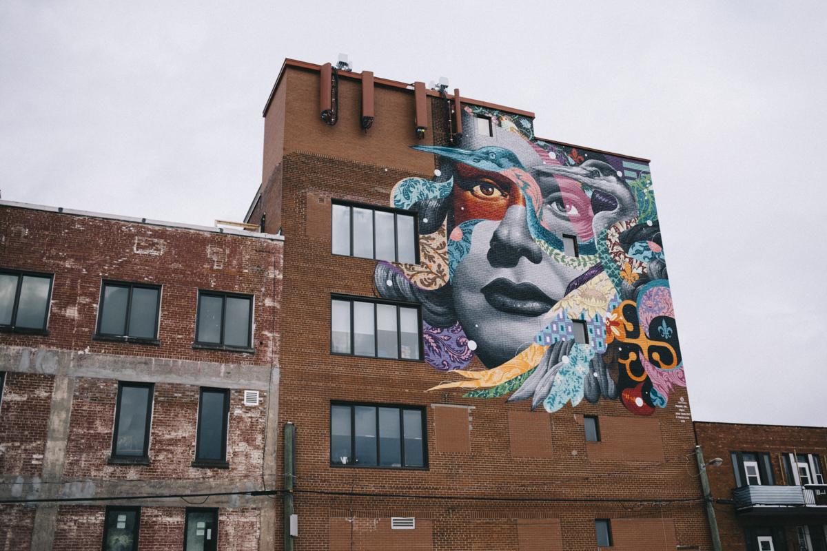 Montréal photowalk Le Plateau murale