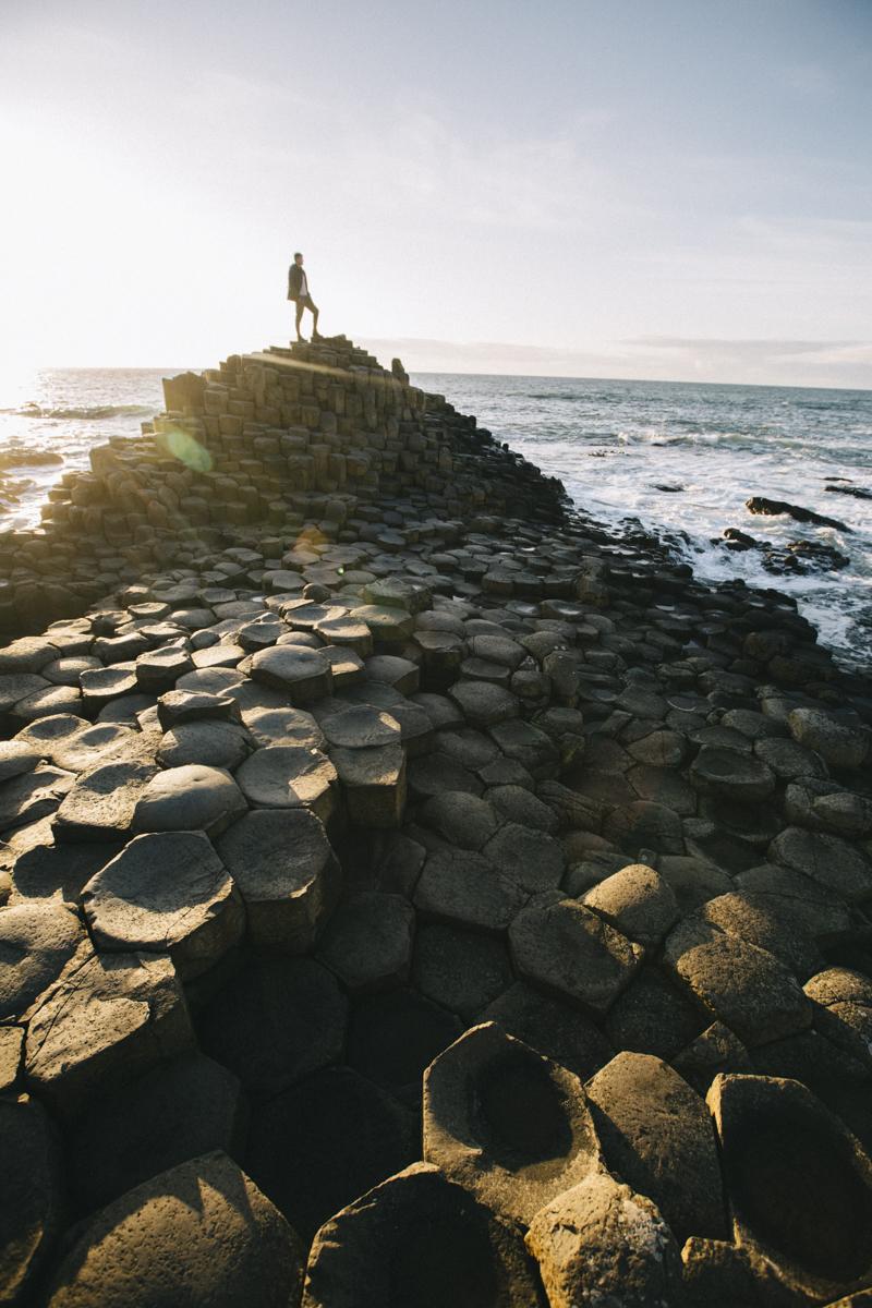 Hexagones en basaltes giant's causeway