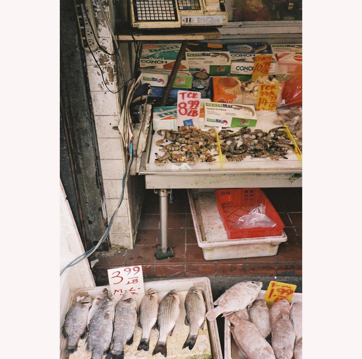 Chinatow New-York fish market
