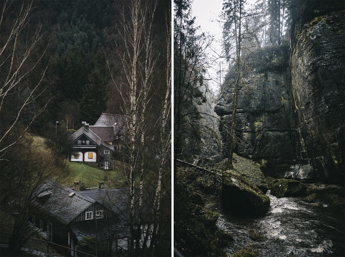 Randonnée gorges de la Kamenice suisse bohème république tchèque