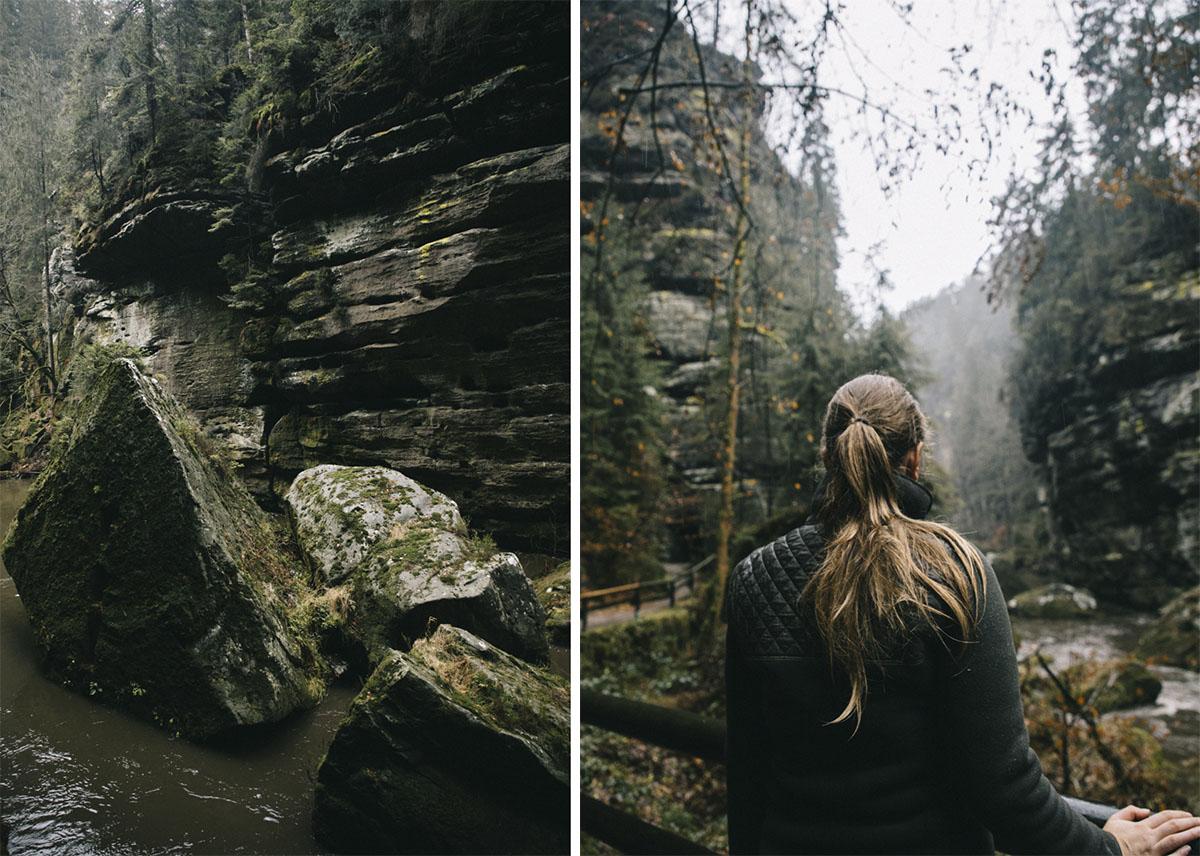 Randonnée gorges de la Kamenice Suisse bohème