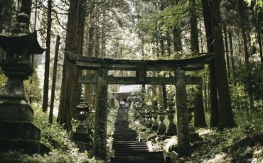 Tori à kamishikimi shrine Kumamoto