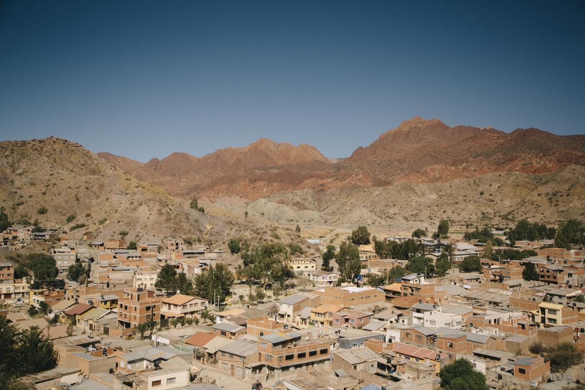 panorama de la ville de Tupiza