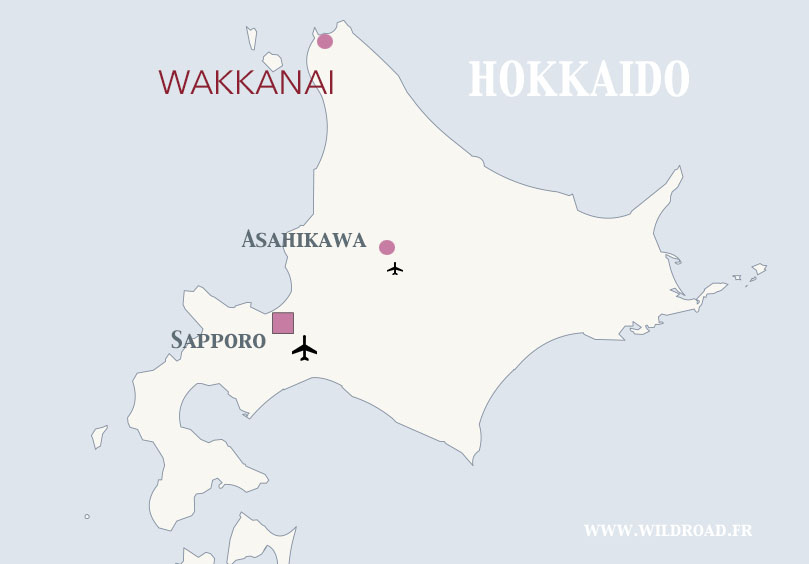 wakkanai map japon