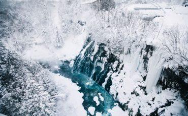 cascade Shirahige onsen bier Higashikawa hokkaido landscape