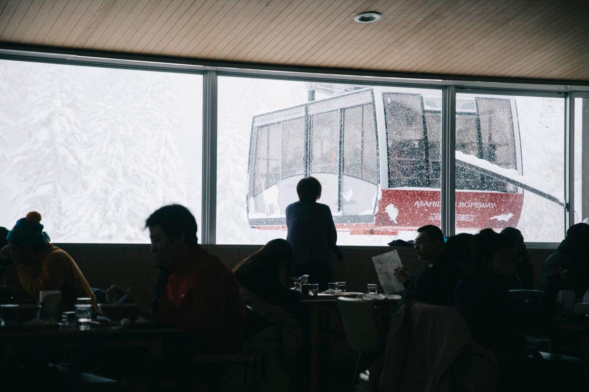 téléphérique station asahidake higashikawa hokkaido volcan japon neige hiver