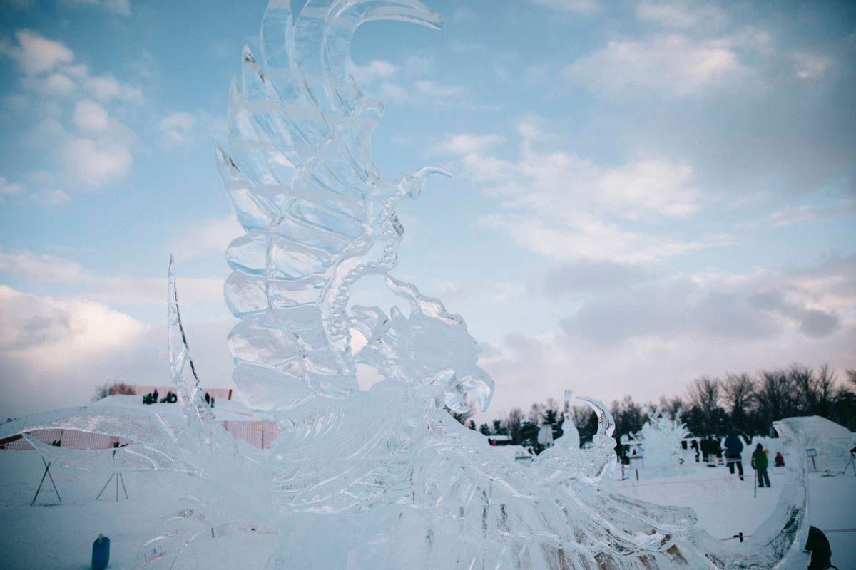 ice festival Higashikawa hokkaido japon hiver