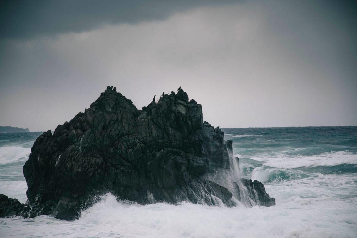 landscape sado island japon niigata wild road