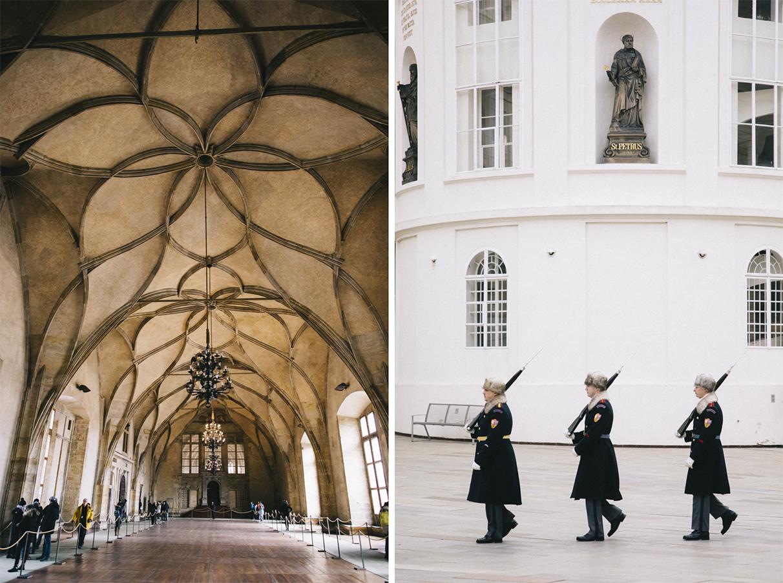 ancien palais royale chateau salle venceslas garde