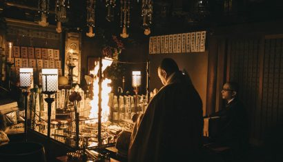 dormir dans un temple bouddhiste cérémonie du feu nara prefecture