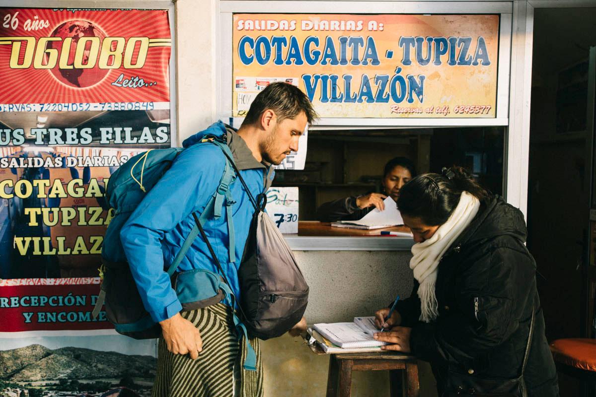 Gare de bus en Bolivie transport
