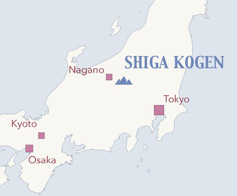 Shiga kogen map nagano japan