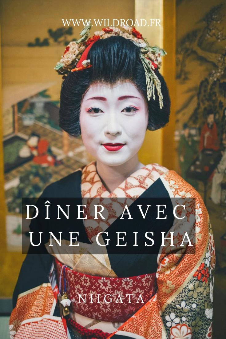 Geisha Niigata dîner guigo