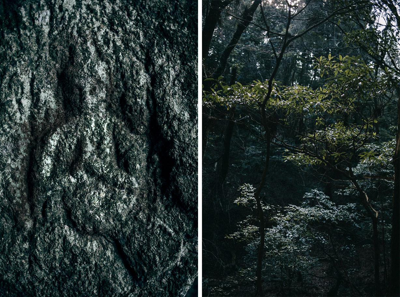 Buddha sculpté Kasuga randonnée nara city japon visite itinéraire