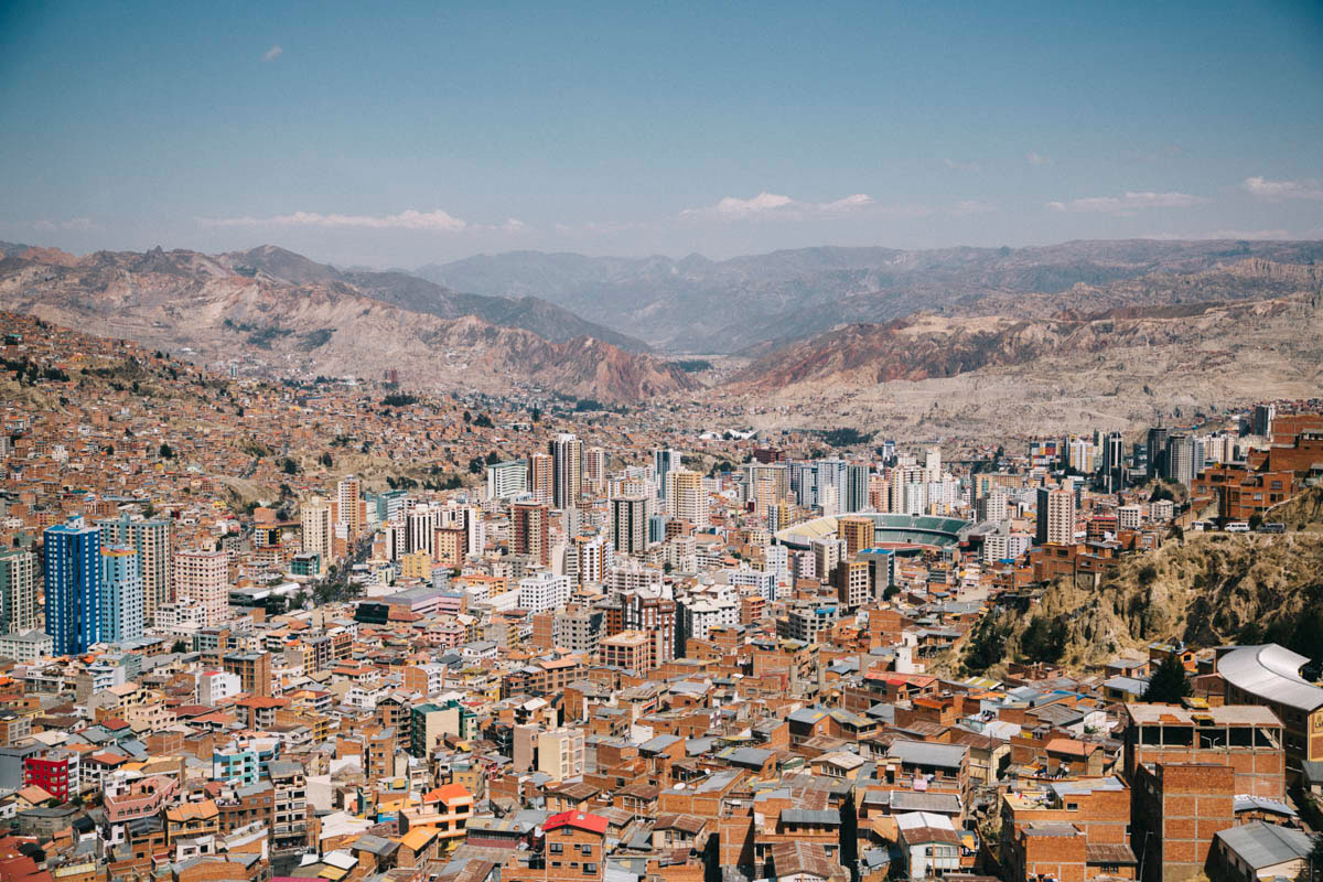 La Paz point de vue téléférique