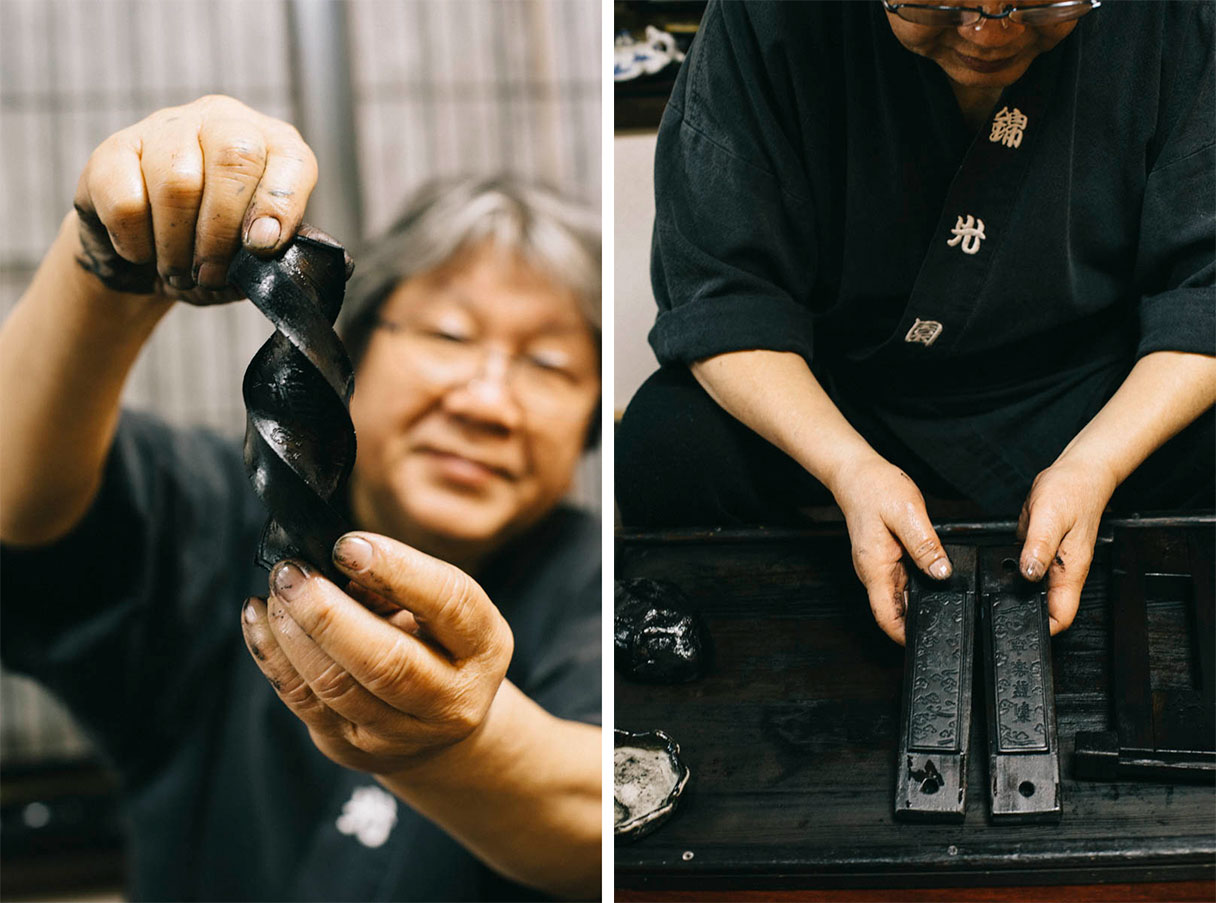 encre japonaise nara city prefecture artisan
