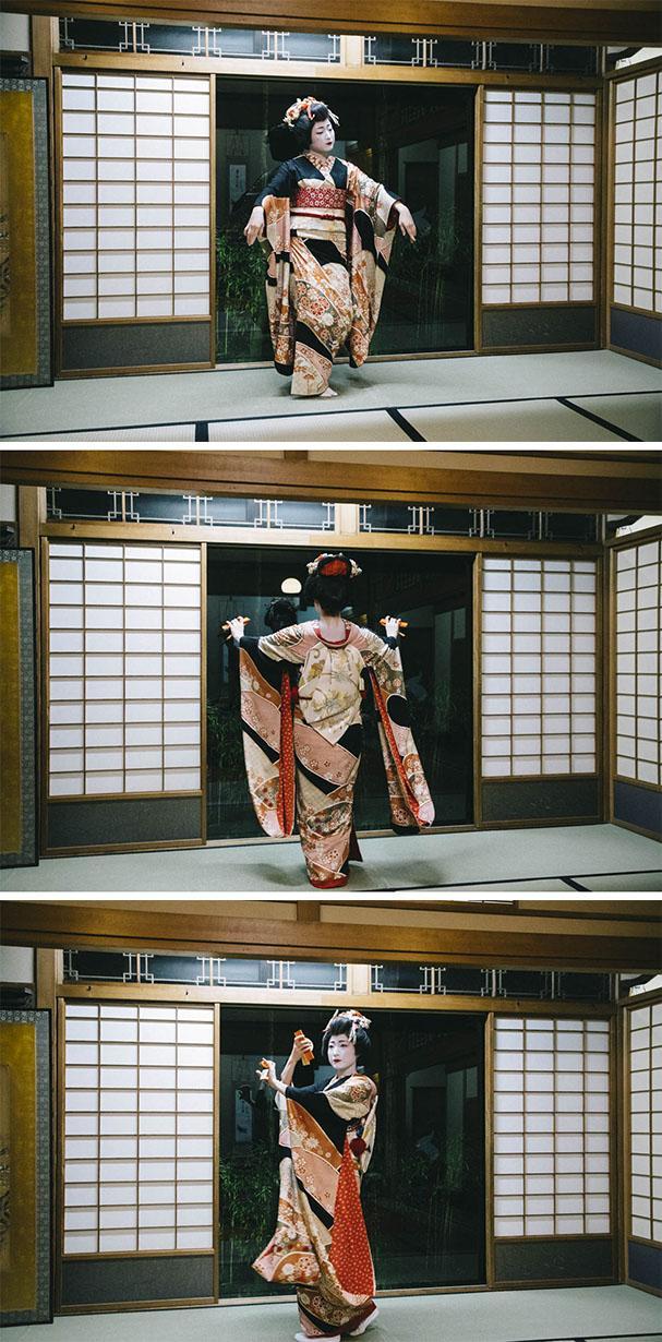 danse geigi geisha niigata japon diner