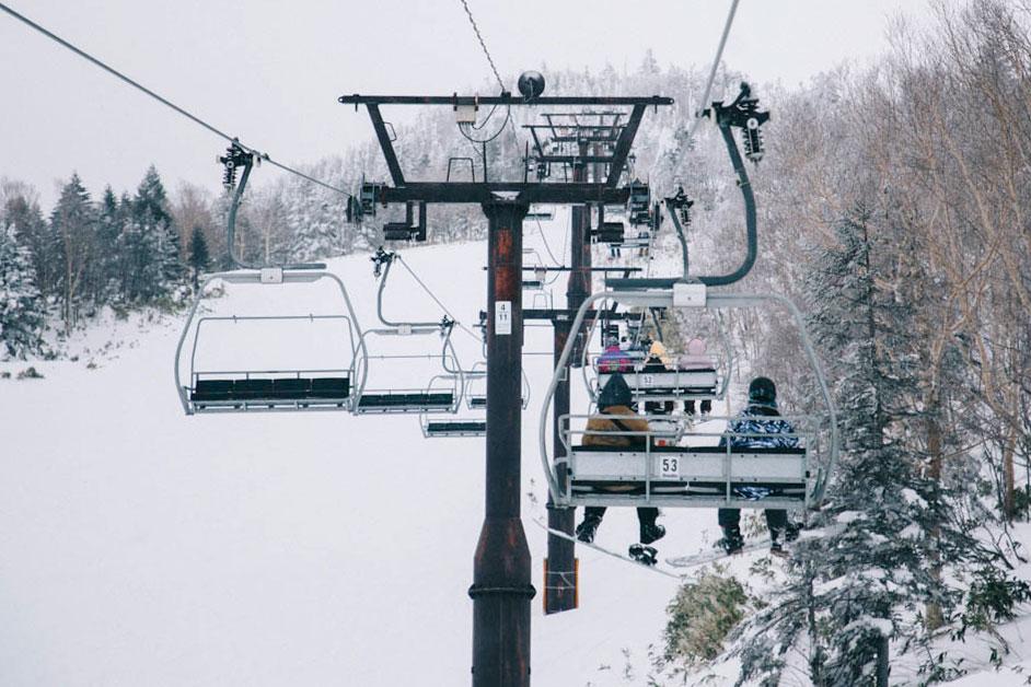 Remonter mécanique Shiga Kogen ski alpes japonaise nagano