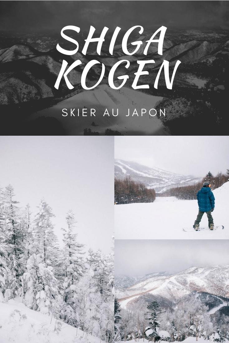 ski map shiga kogen nagano japon