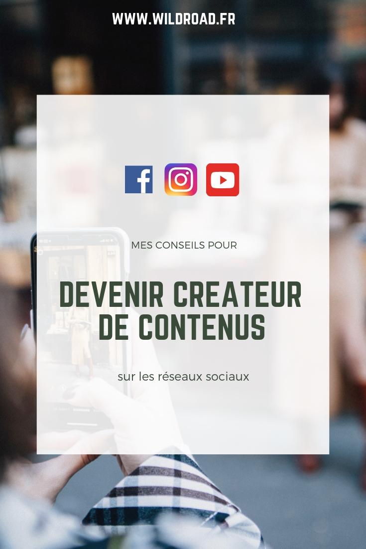 devenir créateur de contenus sur les réseaux sociaux
