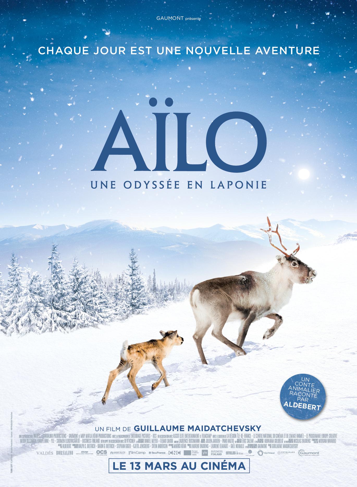Affiche de film AÏlo tourné en Laponie finlandaise