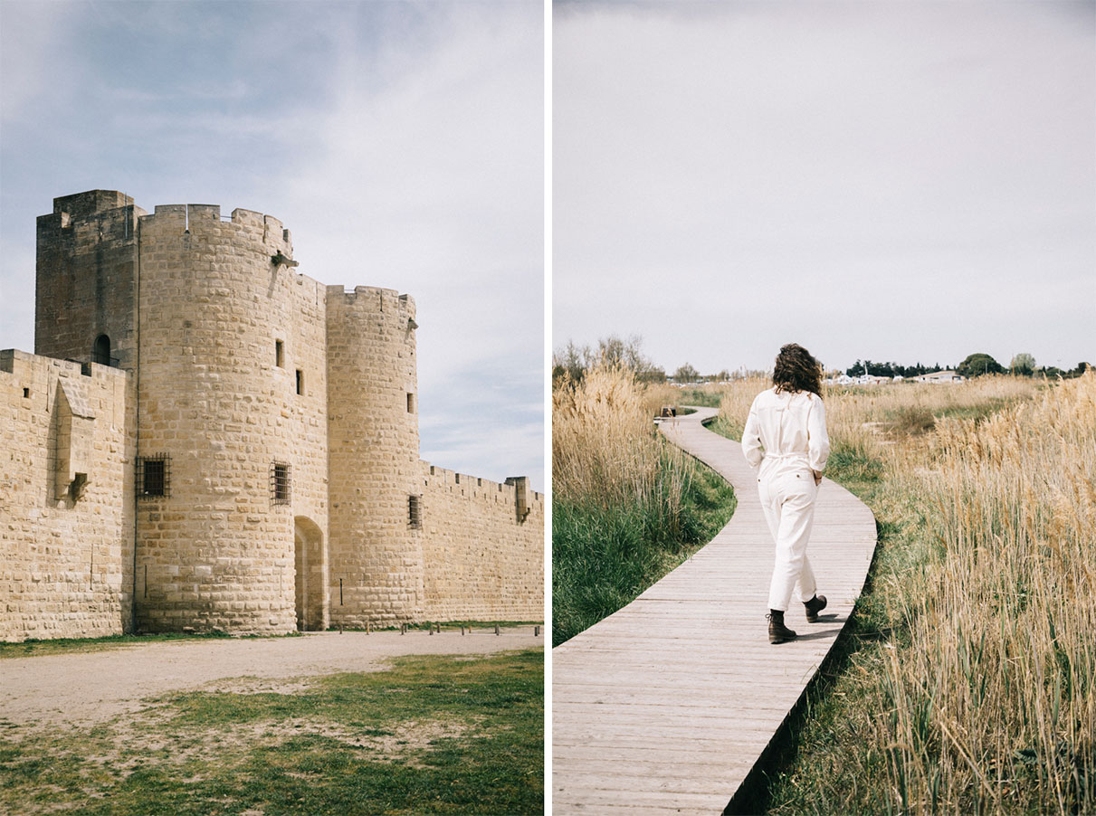 Les remparts d'Aigues-Mortes lors d'un week-end en Camargue