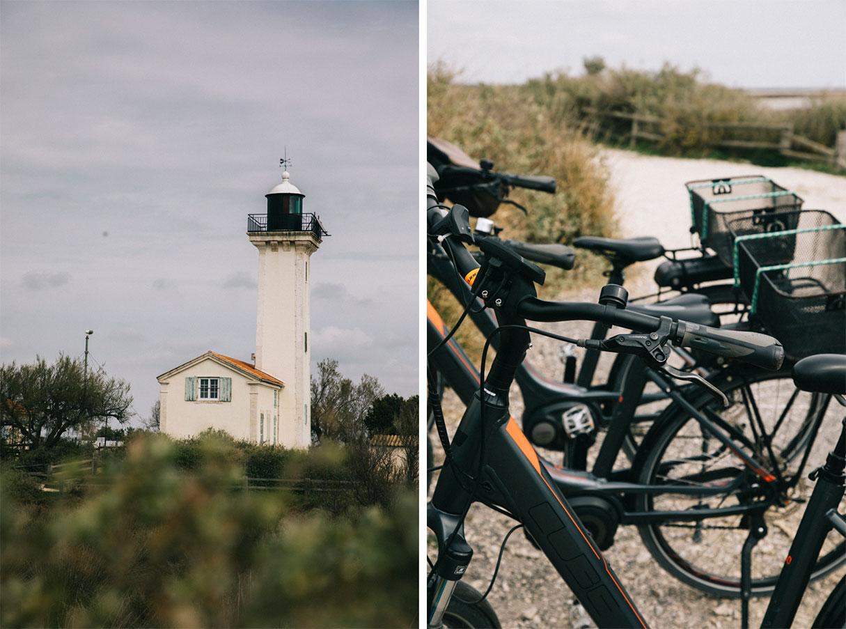 Dingue à la mer au phare de Gacholle en vélo
