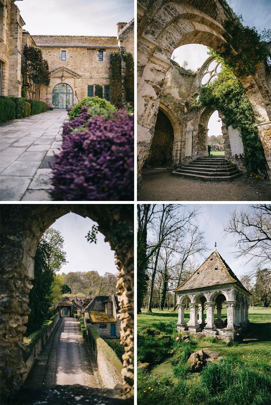 Abbaye des vaux de cernay et sa rosace, église abbatiale, week end en chevreuse