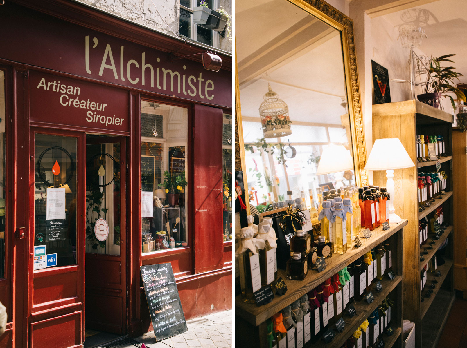 La boutique artisanale de l'Alchimiste siropier à Chevreuse