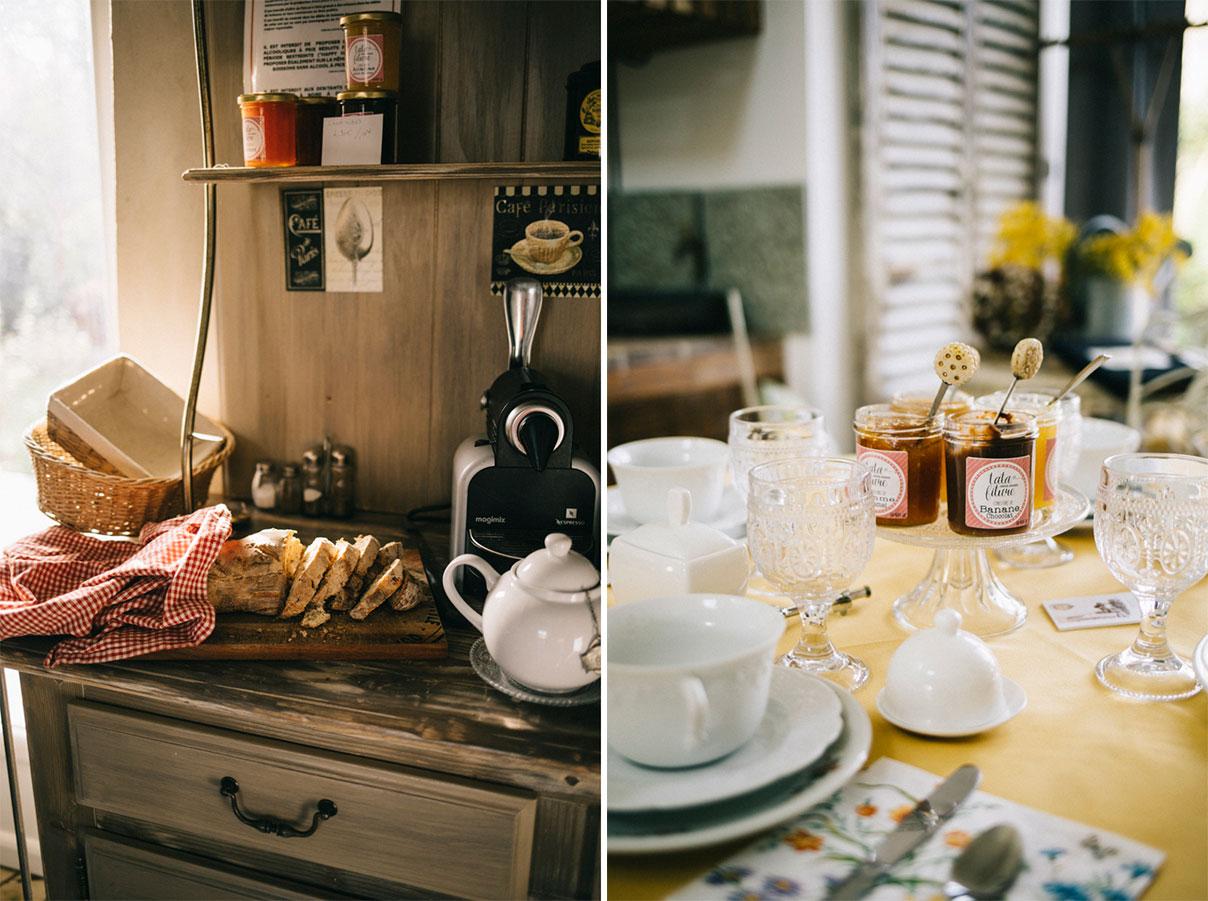 Petit-dejeuner Grange de la Guesle hébergement vallée de Chevreuse