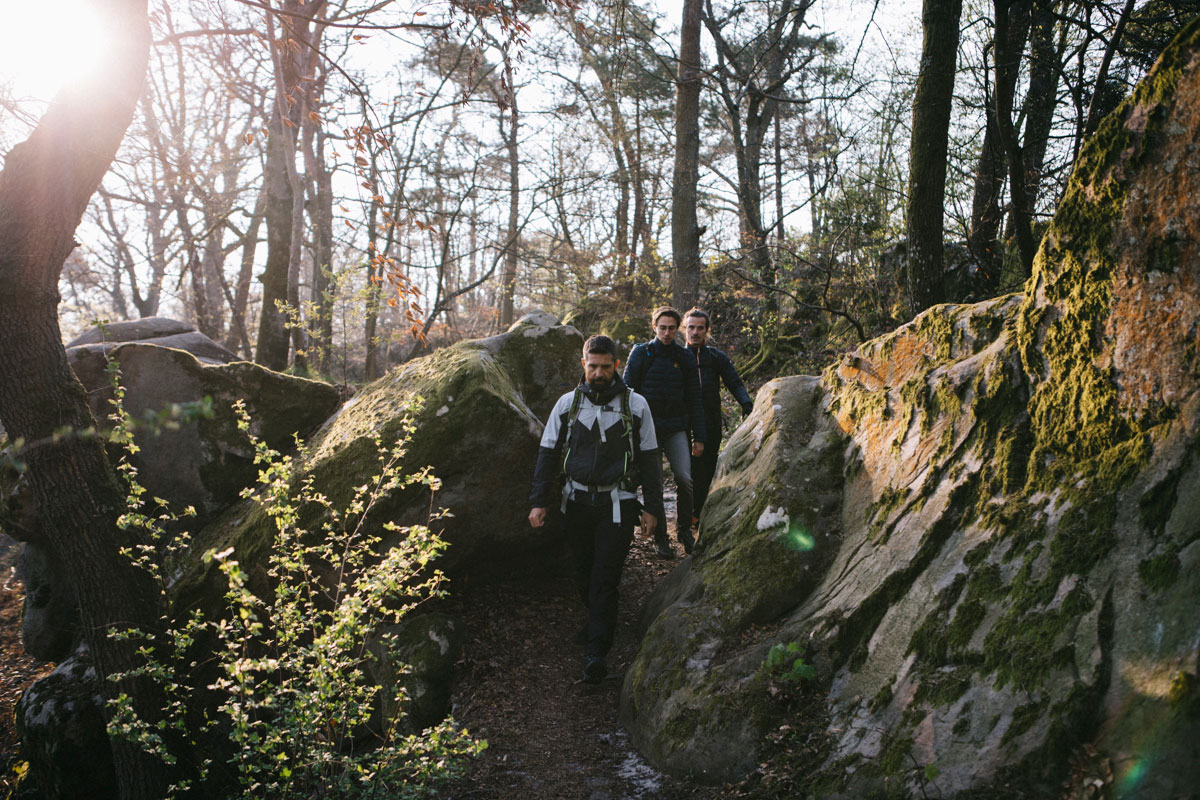 Début de la randonnée, itinéraire transbleausarde forêt de fontainebleau