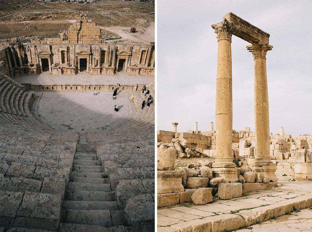 Jerash et ses ruine antiques itinéraire et information pratique pour votre voyage