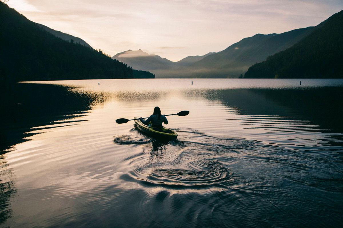 Kayak sur le lac Crescent