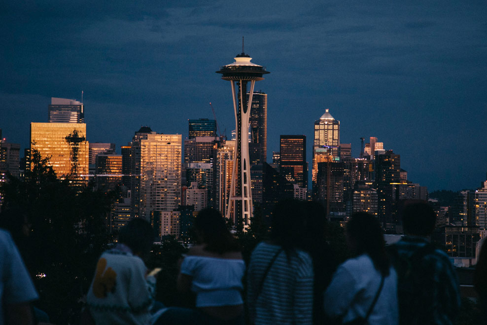 La skyline de Seattle depuis Kerry Park