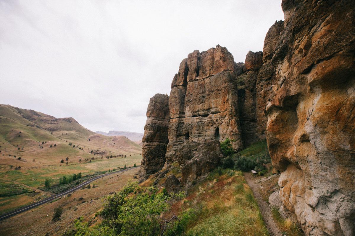 Les palissade de rochers à Clarno Unit